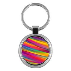 Colorful Background Key Chains (round)