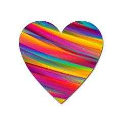 Colorful Background Heart Magnet