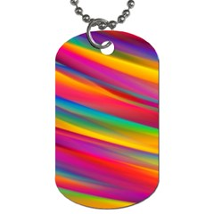 Colorful Background Dog Tag (one Side)