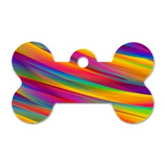 Colorful Background Dog Tag Bone (two Sides)