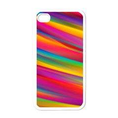 Colorful Background Apple Iphone 4 Case (white)