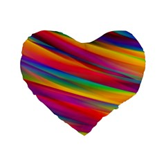Colorful Background Standard 16  Premium Heart Shape Cushions