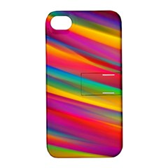 Colorful Background Apple Iphone 4/4s Hardshell Case With Stand