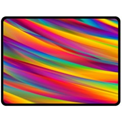 Colorful Background Double Sided Fleece Blanket (large)