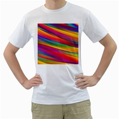 Colorful Background Men s T Shirt (white)