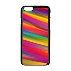 Colorful Background Apple Iphone 6/6s Black Enamel Case