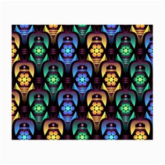 Pattern Background Bright Blue Small Glasses Cloth