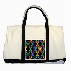 Pattern Background Bright Blue Two Tone Tote Bag