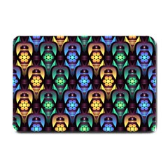 Pattern Background Bright Blue Small Doormat