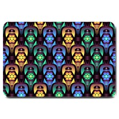 Pattern Background Bright Blue Large Doormat