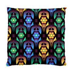 Pattern Background Bright Blue Standard Cushion Case (one Side)