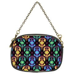 Pattern Background Bright Blue Chain Purses (two Sides)