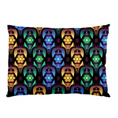 Pattern Background Bright Blue Pillow Case