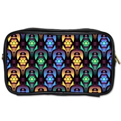 Pattern Background Bright Blue Toiletries Bags