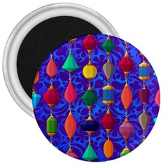 Colorful Background Stones Jewels 3  Magnets