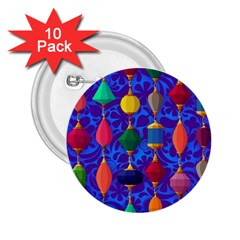 Colorful Background Stones Jewels 2 25  Buttons (10 Pack)