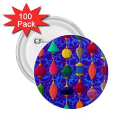Colorful Background Stones Jewels 2 25  Buttons (100 Pack)