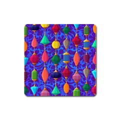Colorful Background Stones Jewels Square Magnet