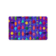 Colorful Background Stones Jewels Magnet (name Card)