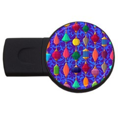Colorful Background Stones Jewels Usb Flash Drive Round (2 Gb)