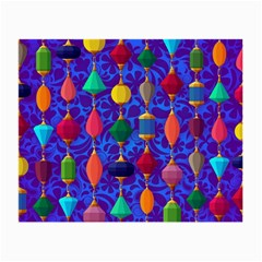 Colorful Background Stones Jewels Small Glasses Cloth (2 Side)