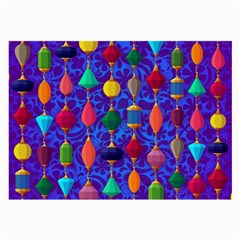 Colorful Background Stones Jewels Large Glasses Cloth (2 Side)