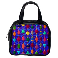 Colorful Background Stones Jewels Classic Handbags (one Side)
