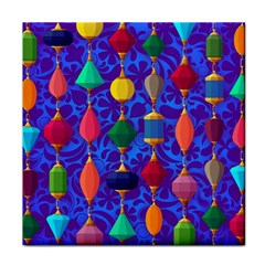 Colorful Background Stones Jewels Face Towel