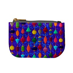 Colorful Background Stones Jewels Mini Coin Purses