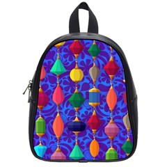 Colorful Background Stones Jewels School Bag (small)