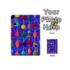 Colorful Background Stones Jewels Playing Cards 54 (mini)