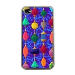 Colorful Background Stones Jewels Apple Iphone 4 Case (clear)