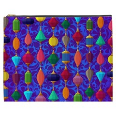 Colorful Background Stones Jewels Cosmetic Bag (xxxl)