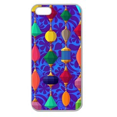 Colorful Background Stones Jewels Apple Seamless Iphone 5 Case (clear)