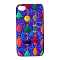 Colorful Background Stones Jewels Apple Iphone 4/4s Hardshell Case With Stand