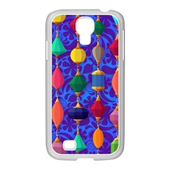 Colorful Background Stones Jewels Samsung Galaxy S4 I9500/ I9505 Case (white)