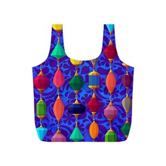 Colorful Background Stones Jewels Full Print Recycle Bags (s)