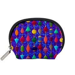 Colorful Background Stones Jewels Accessory Pouches (small)
