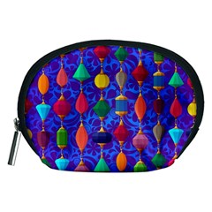 Colorful Background Stones Jewels Accessory Pouches (medium)