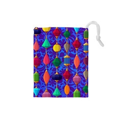 Colorful Background Stones Jewels Drawstring Pouches (small)
