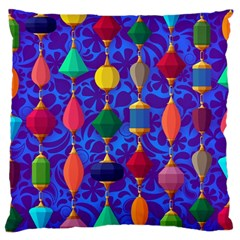 Colorful Background Stones Jewels Standard Flano Cushion Case (one Side)