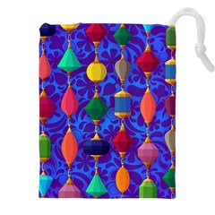 Colorful Background Stones Jewels Drawstring Pouches (xxl)