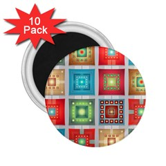 Tiles Pattern Background Colorful 2 25  Magnets (10 Pack)