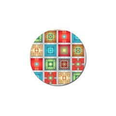 Tiles Pattern Background Colorful Golf Ball Marker