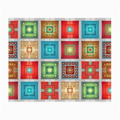Tiles Pattern Background Colorful Small Glasses Cloth