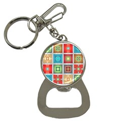 Tiles Pattern Background Colorful Button Necklaces