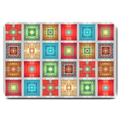 Tiles Pattern Background Colorful Large Doormat