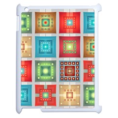 Tiles Pattern Background Colorful Apple Ipad 2 Case (white)