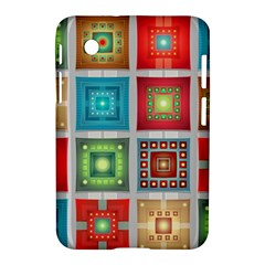 Tiles Pattern Background Colorful Samsung Galaxy Tab 2 (7 ) P3100 Hardshell Case