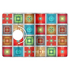 Tiles Pattern Background Colorful Kindle Fire Hdx Flip 360 Case